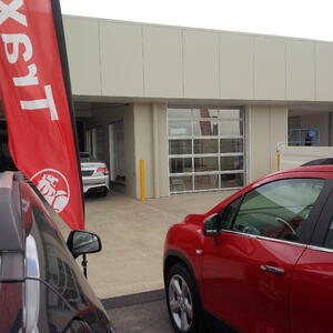 Wagga Motors car Showroom Door