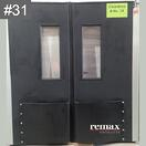 Discount Item 31_black pair of swingdoors