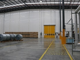 temporary warehouse separation solution with the flexwall system