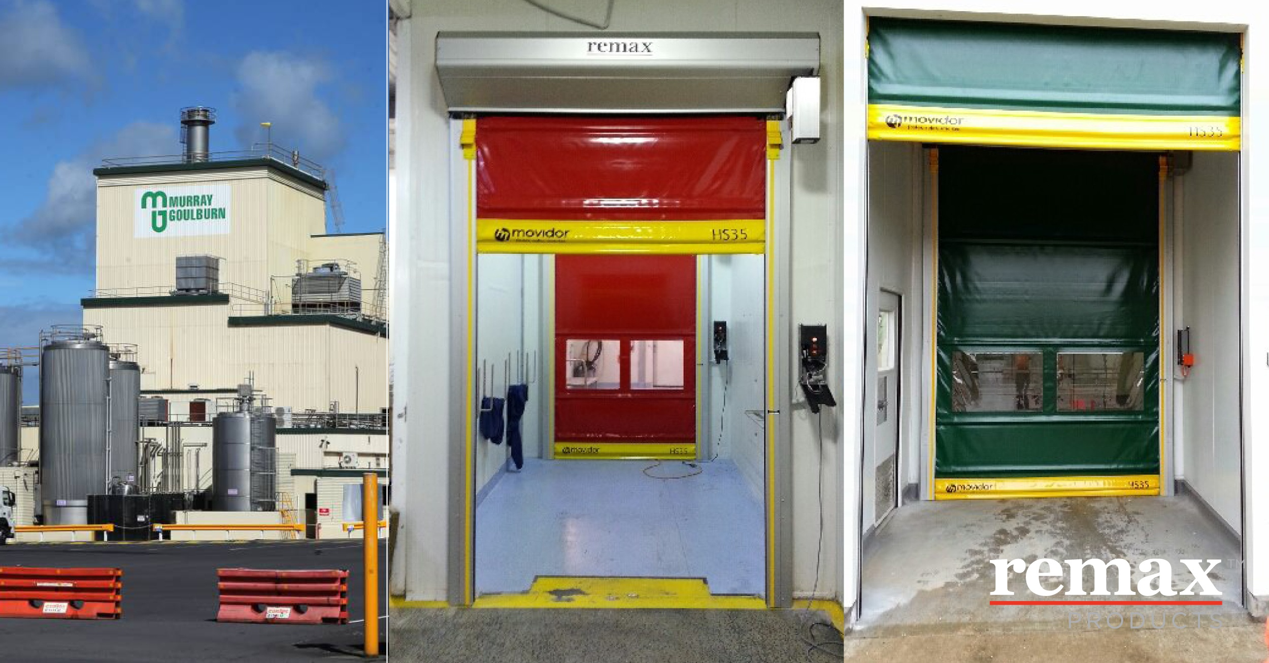 Air lock doors for temperature control and dust control in your warehouse