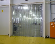 pvc stripdoors for warehouse dust control solution
