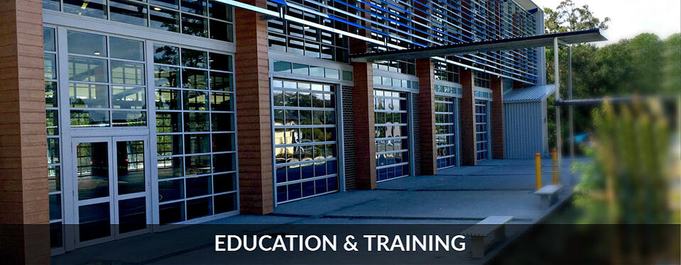 Compact Sectional Door Education & training centre schools