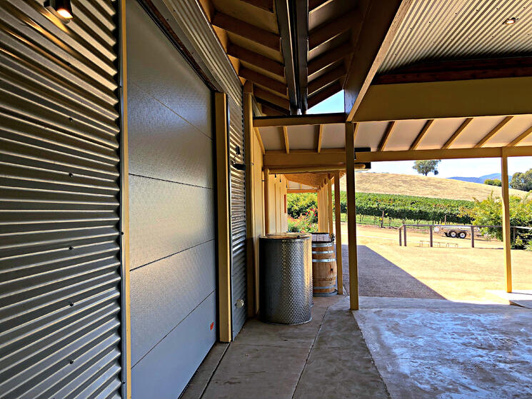 Ringer Reef Winery Custom  Compact Sectional Door