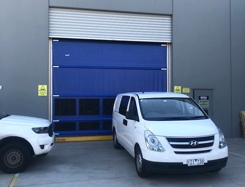 Remax installed Movidor High Speed Door for temperature control